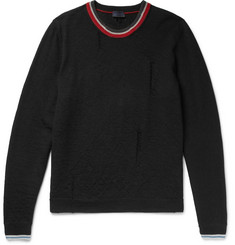 Lanvin Distressed Striped Wool Sweater