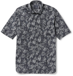 Lanvin Slim-Fit Koi-Print Cotton-Poplin Shirt