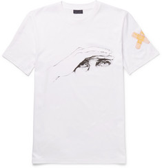 Lanvin - Slim-Fit Printed Cotton-Jersey T-Shirt