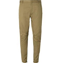 Lanvin - Tapered Cotton-Twill Biker Trousers