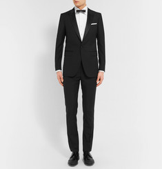 Lanvin - Black Slim-Fit Satin-Trimmed Wool And Mohair-Blend Tuxedo