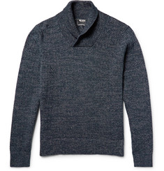 Todd Snyder Shawl-Collar Mélange Cotton Sweater