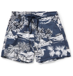 Etro - Slim-Fit Short-Length Printed Swim Shorts