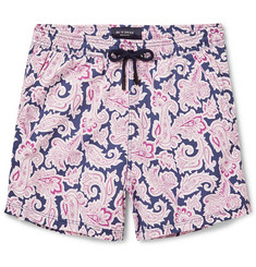 Etro Short-Length Paisley-Print Swim Shorts