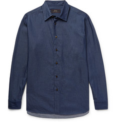 Brioni Cotton-Chambray Shirt