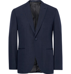 Brioni - Blue Slim-Fit Satin-Piped Silk Tuxedo Jacket
