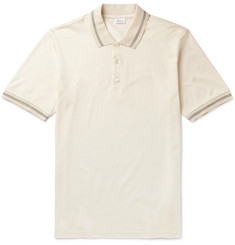 Brioni - Slim-Fit Silk and Cotton-Blend Piqué Polo Shirt