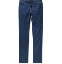 Brioni Livigno Slim-Fit Cotton and Silk-Blend Denim Jeans