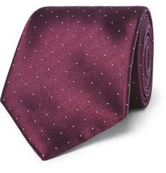 Brioni - 8.5cm Polka-Dot Silk and Cotton-Blend Tie