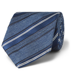 Brioni - 8cm Striped Silk-Jacquard Tie