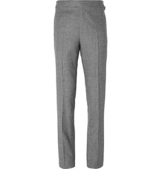 Kingsman Grey Houndstooth Wool Suit Trousers