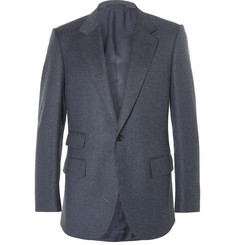 Kingsman Blue Slim-Fit Mélange Wool Suit Jacket