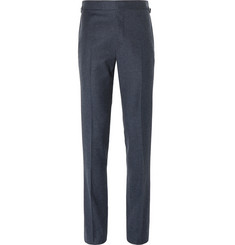 Kingsman Blue Mélange Wool Suit Trousers