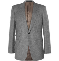 Kingsman Grey Slim-Fit Houndstooth Wool Suit Jacket