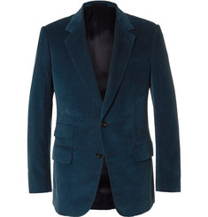 Kingsman - Blue Slim-Fit Cotton and Cashmere-Blend Corduroy Blazer