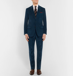 Kingsman Blue Slim-Fit Cotton and Cashmere-Blend Corduroy Blazer