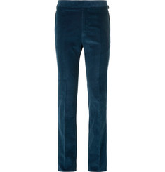 Kingsman Slim-Fit Cotton and Cashmere-Blend Corduroy Trousers