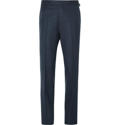 Kingsman Blue Slim-Fit Wool-Flannel Trousers