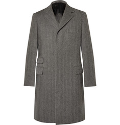 Kingsman Herringbone Wool Overcoat
