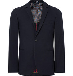 PS by Paul Smith Blue Slim-Fit Unstructured Cotton-Blend Piqué Blazer