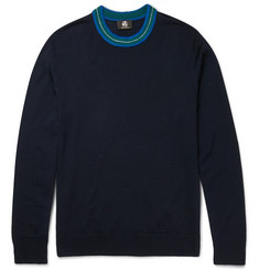PS by Paul Smith Contrast-Trimmed Merino Wool-Blend Sweater