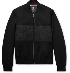 PS by Paul Smith Bouclé-Panelled Wool-Blend Twill Bomber Jacket
