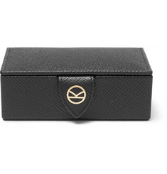 Kingsman + Smythson Panama Grained-Leather Cufflink Box