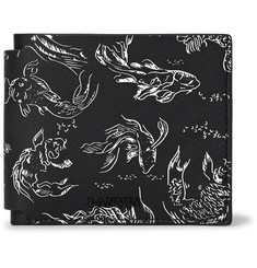 Lanvin Koi-Print Leather Billfold Wallet