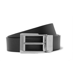Lanvin 3cm Black and Brown Reversible Leather Belt