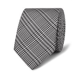Lanvin 5.5cm Prince of Wales Checked Silk Tie