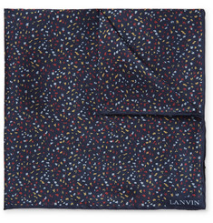 Lanvin Patterned Silk Pocket Square