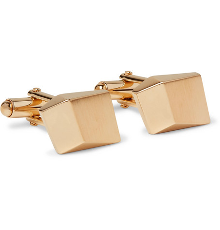 lanvin male lanvin brushed goldplated cufflinks gold