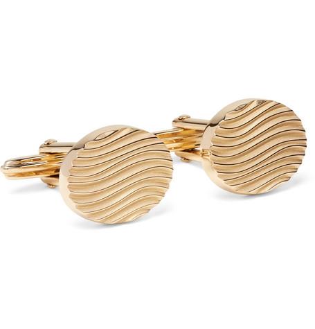 lanvin male lanvin goldplated cufflinks gold