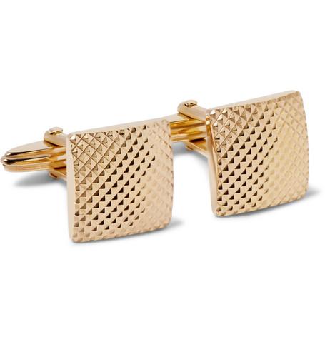 lanvin male lanvin textured goldtone cufflinks gold