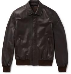 Ermenegildo Zegna Leather Blouson Jacket