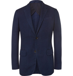 Ermenegildo Zegna Blue Slim-Fit Woven Cotton Blazer