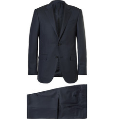 Ermenegildo Zegna - Blue Cool Effect Slim-Fit Gingham Wool and Silk-Blend Suit