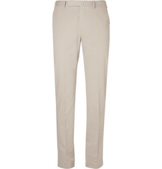 Ermenegildo Zegna Beige Slim-Fit Stretch Cotton and Cashmere-Blend Suit Trousers