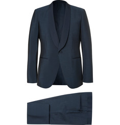 Ermenegildo Zegna Blue Slim-Fit Wool and Mohair-Blend Tuxedo