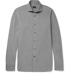 Ermenegildo Zegna Washed Cotton-Twill Shirt