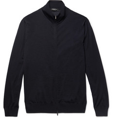 Ermenegildo Zegna - Merino Wool Zip-Up Sweater