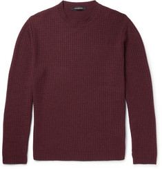 Ermenegildo Zegna Wave-Knit Wool, Silk and Cashmere-Blend Sweater