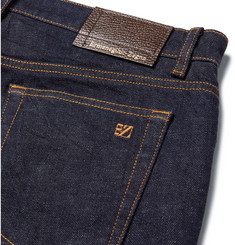 Ermenegildo ZegnaSlim-Fit Garment-Washed Stretch-Denim Jeans