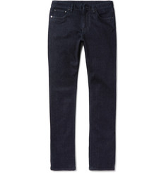 Ermenegildo Zegna Slim-Fit Garment-Washed Stretch-Denim Jeans