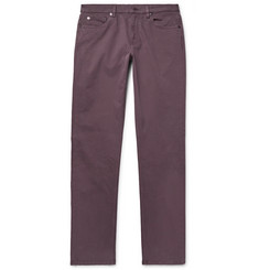 Ermenegildo Zegna Slim-Fit Garment-Dyed Stretch-Cotton Trousers