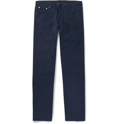 Ermenegildo Zegna - Slim-Fit Garment-Dyed Stretch-Cotton Trousers