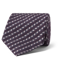 Ermenegildo Zegna 8cm Striped Silk-Blend Tie