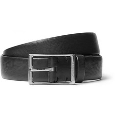 Burberry - 3cm Black Blake Cross-Grain Leather Belt