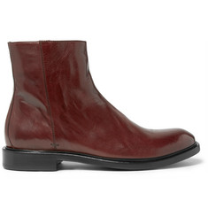 Paul Smith Sullivan Polished-Leather Boots