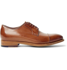 Paul Smith Ernest Cap-Toe Polished-Leather Derby Shoes